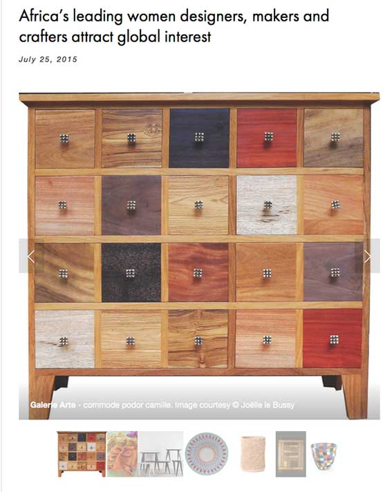 Tapiwa Matsinde Lionessess Of Africa Africas leading women designers makers and crafters attract global interest showing wood sideboard cabinet
