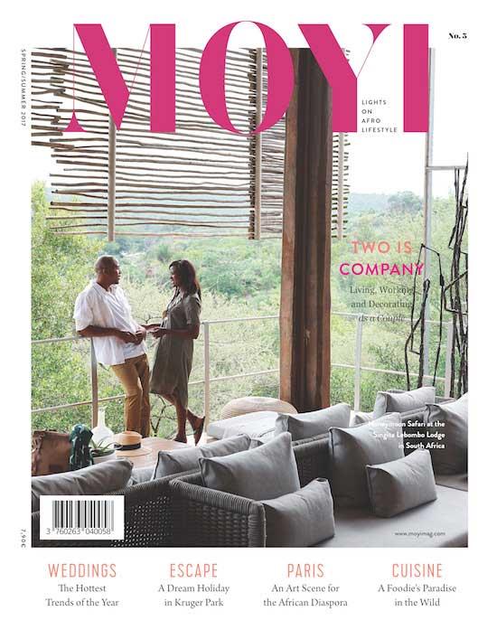 Tapiw -Matsinde Moyi Magazine Cover Spring Summer 2017 Issue Singita Lebombo Lodge African Design and Afro Lifestyle
