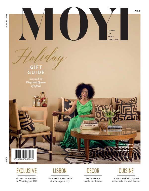 Tapiwa Matsinde Moyi Magazine Cover Winter 2016 Issue Nomzamo Mbatha African Design and Afro Lifestyle