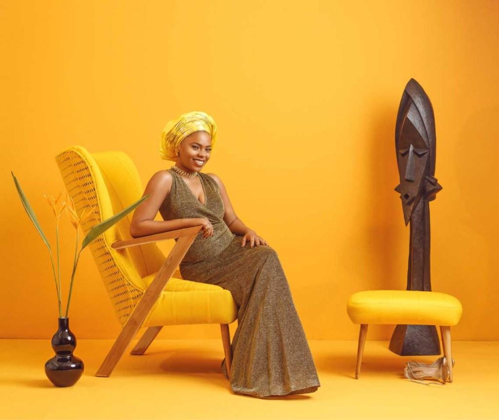ile ila Adunni Collection yellow armchair furniture made In Nigeria