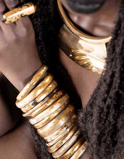 Adele Dejak statement jewellery collections made in Kenya