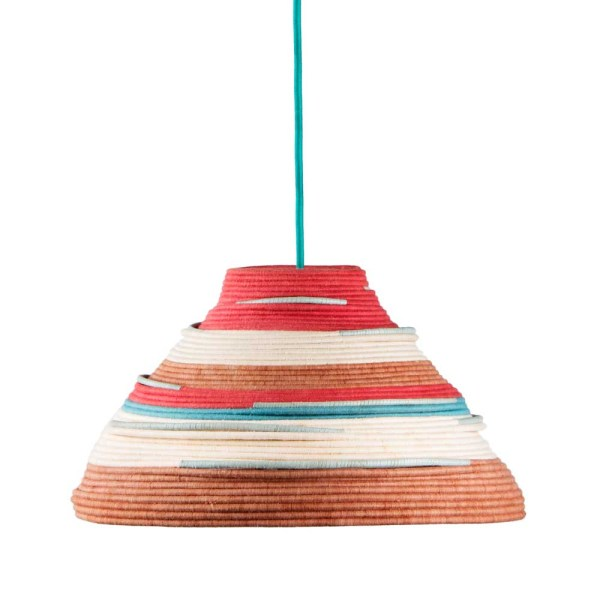 AAKS Bella Red and Brown Woven Lamp Lighting