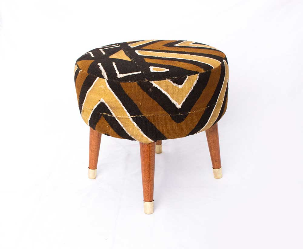 Workshop Nairobi Mud cloth covered stool