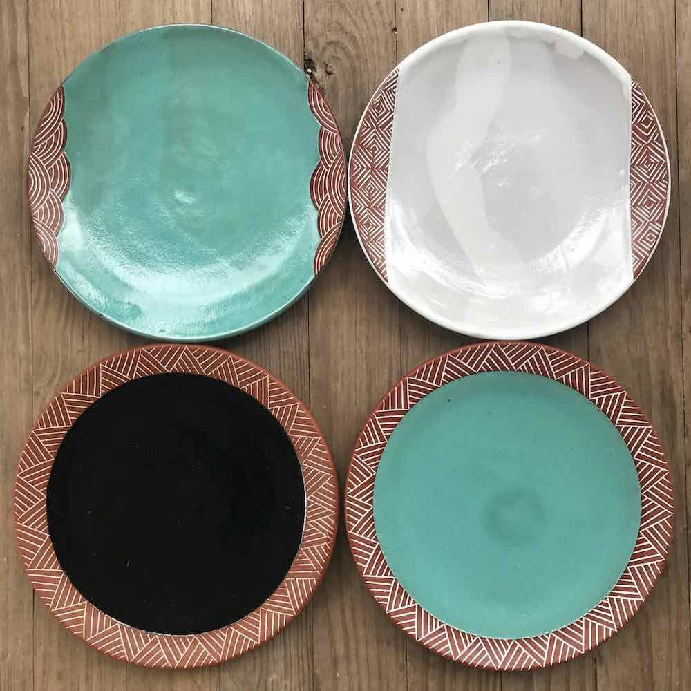 Pottery dinner plates By Osa Atoe