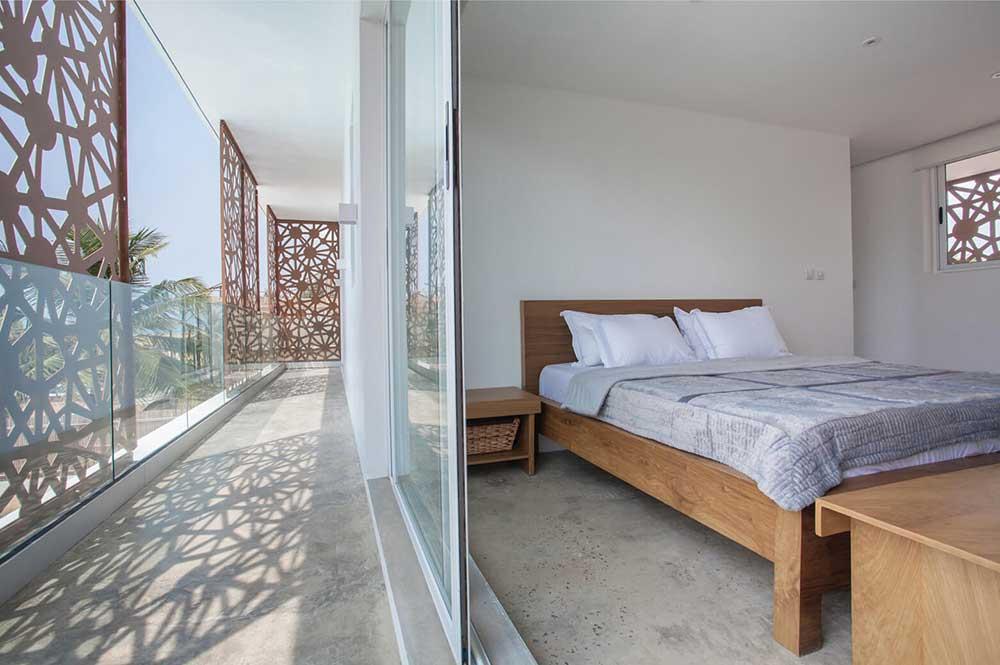 Sencillo a Stylish Minimalist Lagos Beach House Bedroom