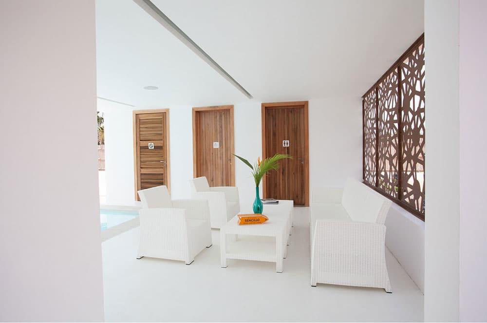 Sencillo a Stylish Minimalist Lagos Beach House Seating Area