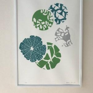 décoration vert et bleu