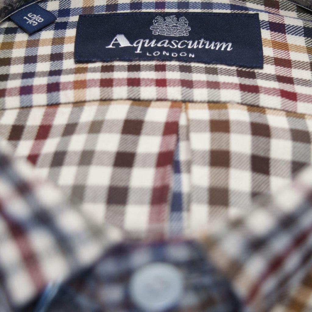 Camicia Aquascutum Multicolor a Quadri