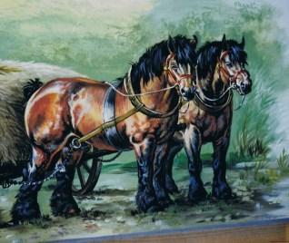 Pferde Wandmalerei