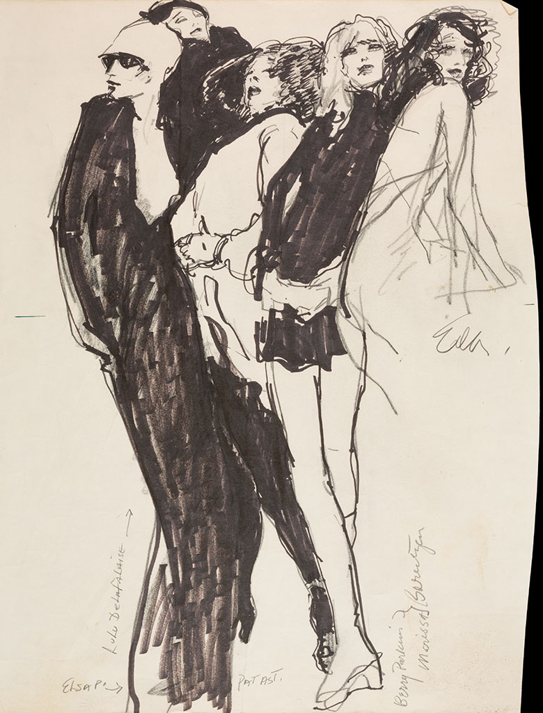 halston illustration