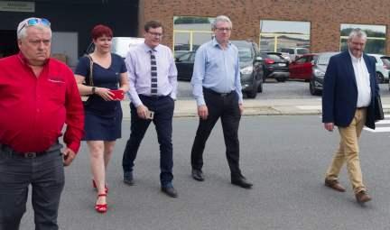 Monsieur Vassaux, Madame Spreutel, Messieurs Chardon, Agneessens et Monsieur Deffense, notre nouveau délégué commercial
