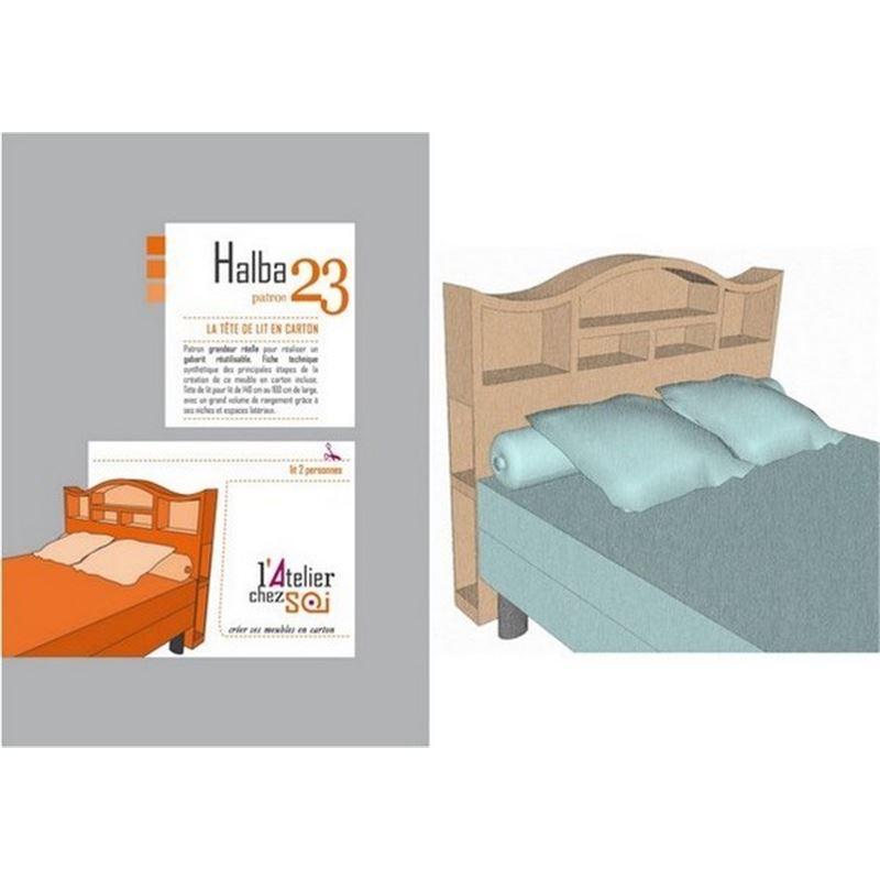 patron meuble en carton tete de lit halba 2 personnes
