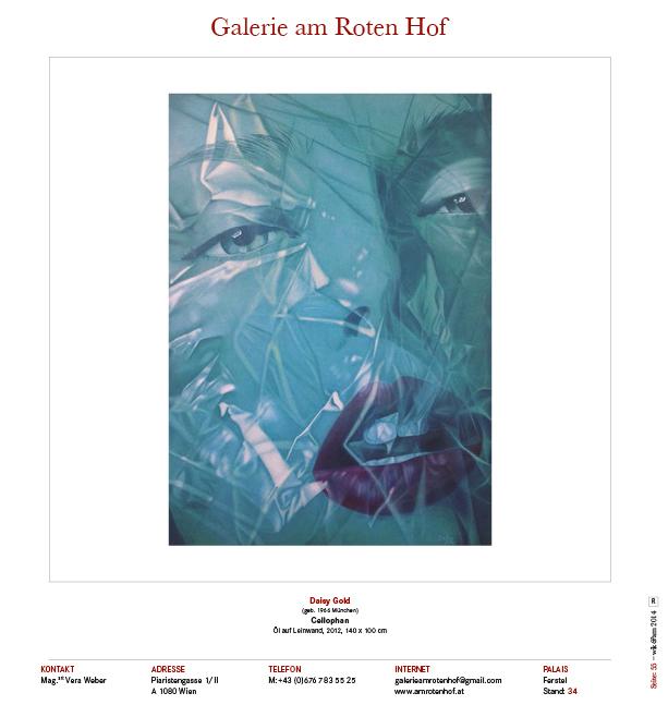 """Celo"", Katalogseite Galerie am roten Hof, WIKAM - Palais Ferstel 2014"