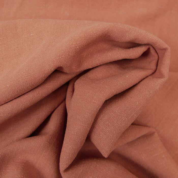 tissu viscose et lin de couleur marsala