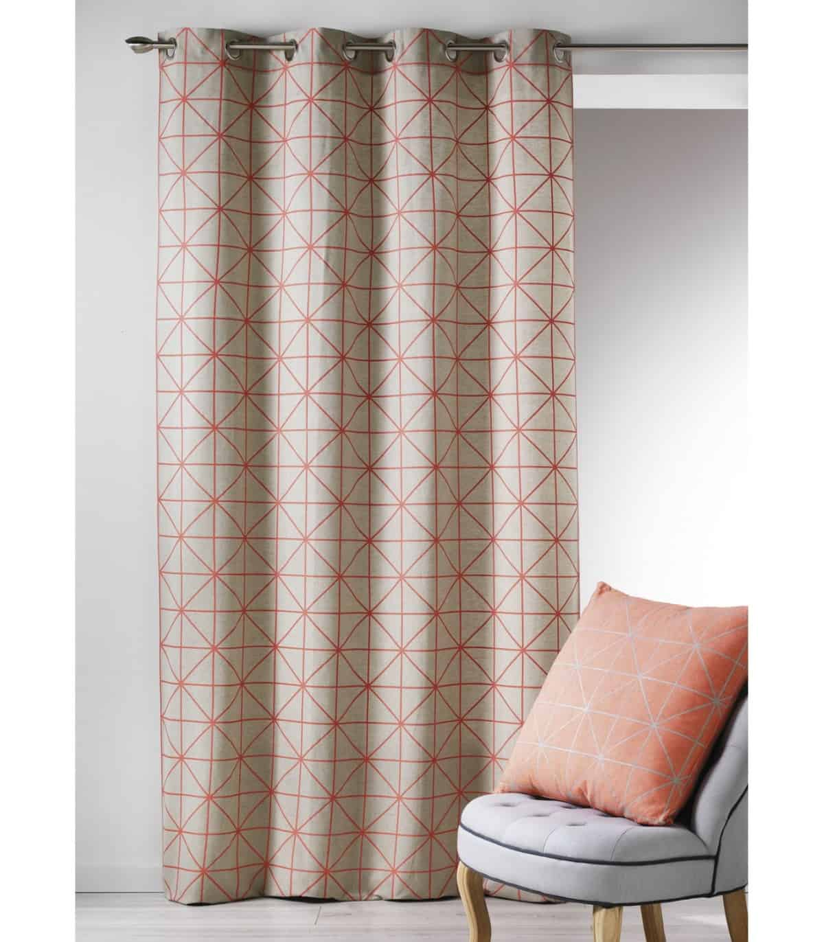 rideau contemporain motif geometrique