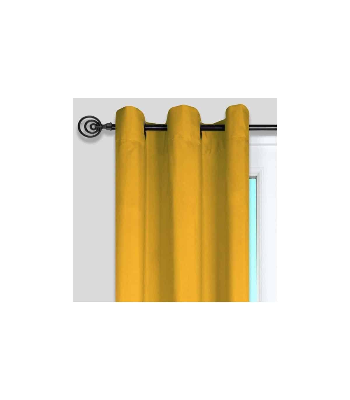 rideau tamisant jaune