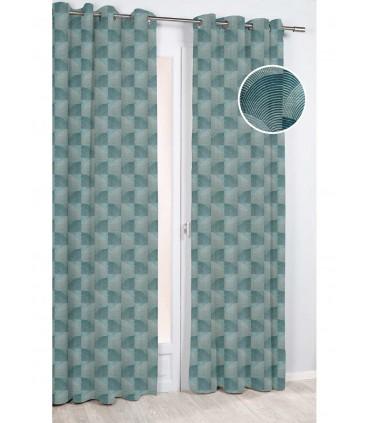 rideau ecaille art deco geometrique vert