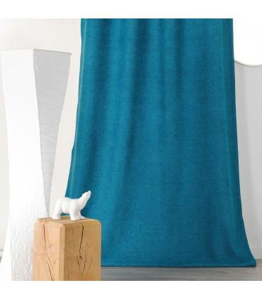 rideau aspect laine chinee a galon fronceur