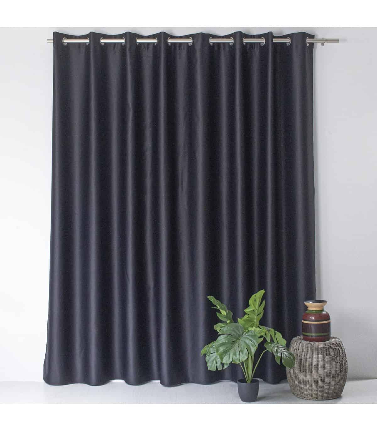 rideau occultant noir grande largeur