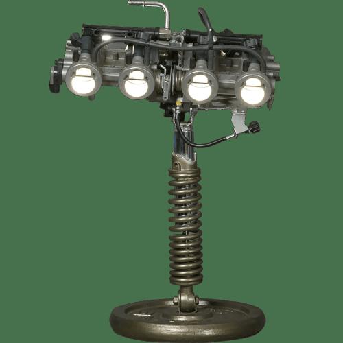 Passionnés d'Harley Davidson? Cette lampe Harley Davindson devrait vous plaire La moto se fait une place dans la déco maison insolite pour fans de moto