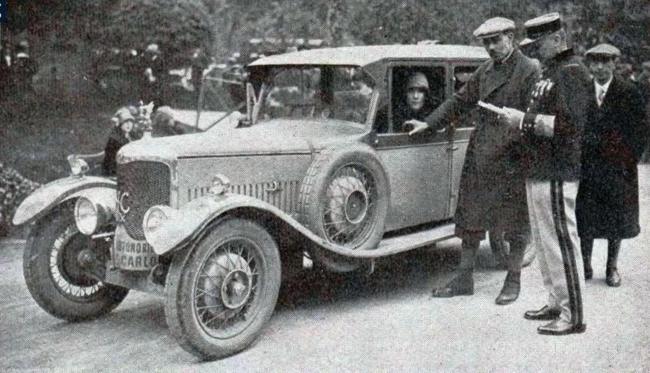 Mildred Bruce, vainqueur de la Coupe des Dames au Rallye Monte-Carlo de 1927