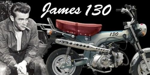 James Dean DAX 125cc JAMES DEAN Homologué route Article rédigé par Daniela DAUDE artiste mobilier avec pièces autos. James Dean ses amours cachés SM, son parcours Un acteur est mort.Une légende est née...
