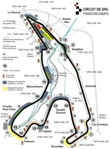 Pour Piloter sa voiture sur Piloter sa voiture sur Circuit Spa-Francorchamps (Belgique) : Voici les infos : Coordonnées du circuit, détail du tracé, vue aérienne, calendrier et inscription des prochaines sorties...