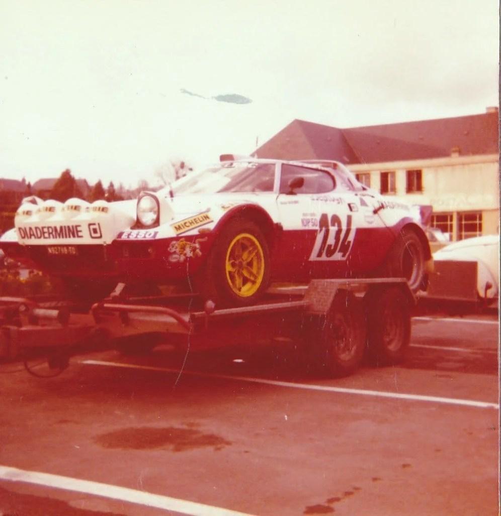 1977 Christine Dacremont Course de cote d'hebecrevon.Avec cette même Lancia Stratos, elle participa entre autres au rallye Monte Carlo