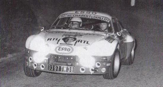 1974Tour Auto sur Alpine 1600S