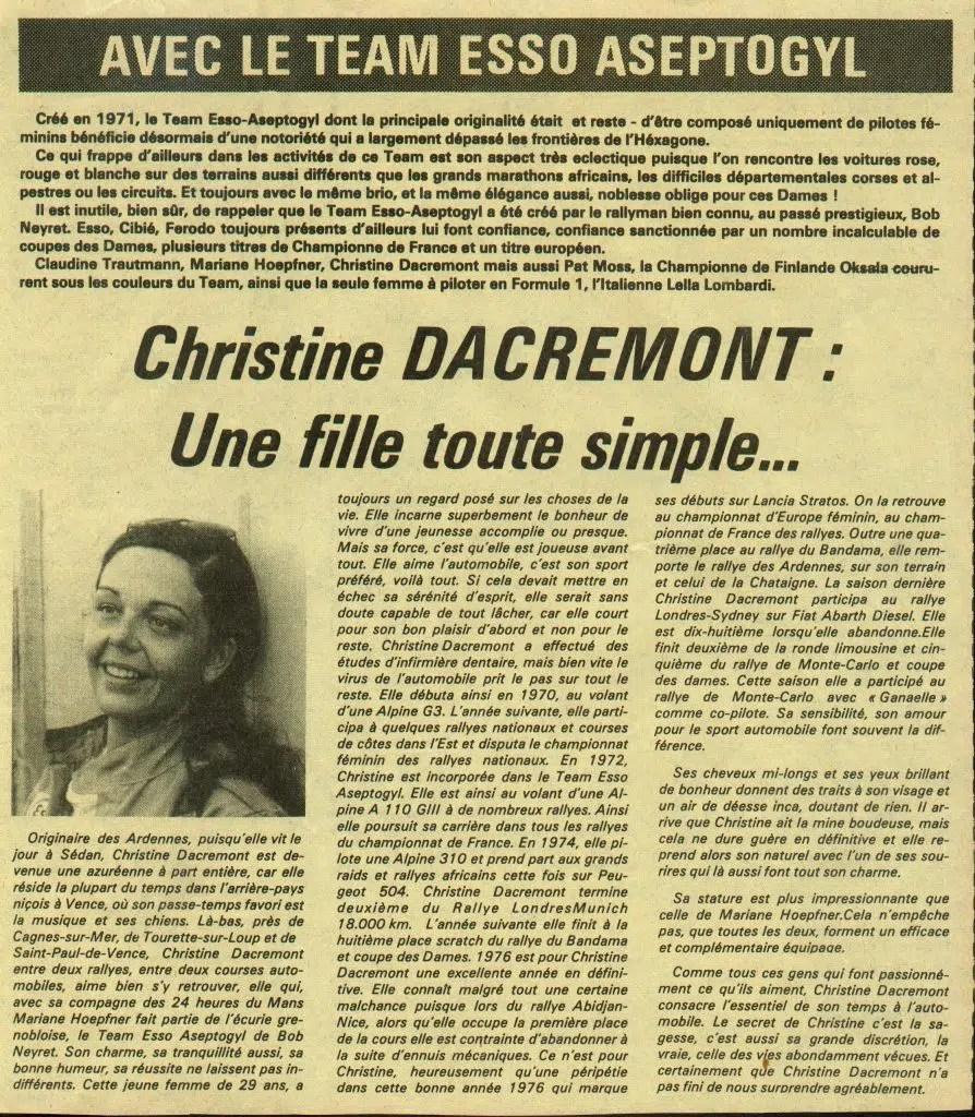 1972 Christine Dacremont Publicité Aseptogyl