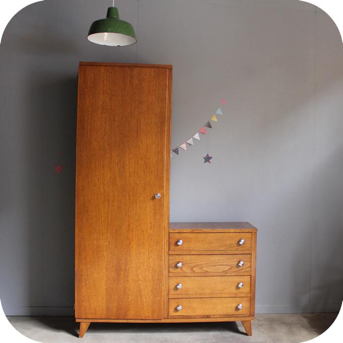 Mobilier Vintage Armoire Annees 50 Rtro Atelier Du