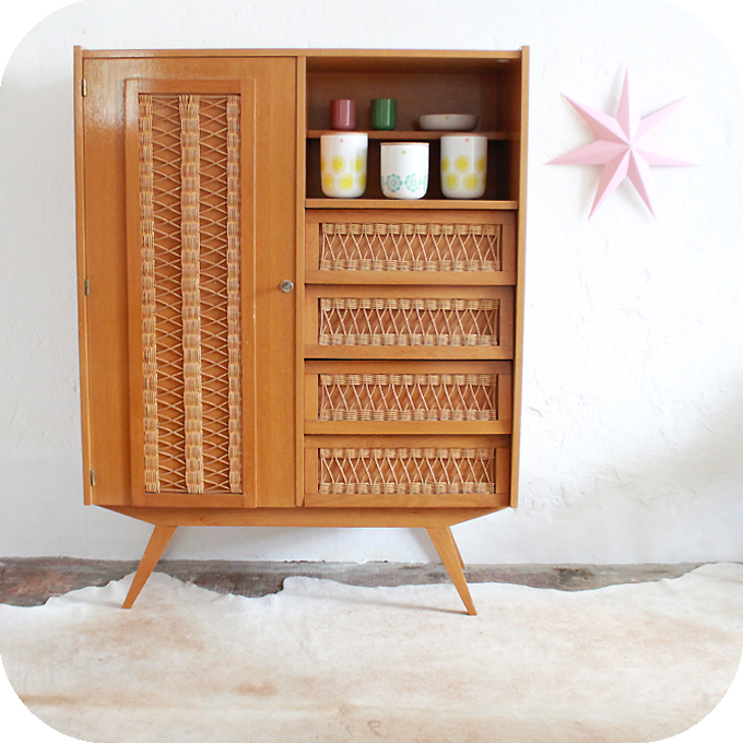 mobilier vintage armoire commode