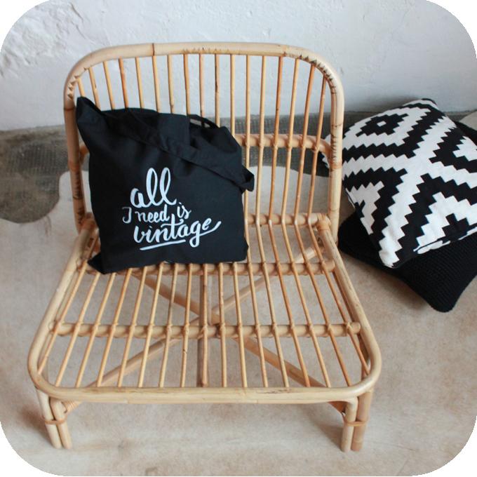 e273 fauteuil rotin ikea vintage e