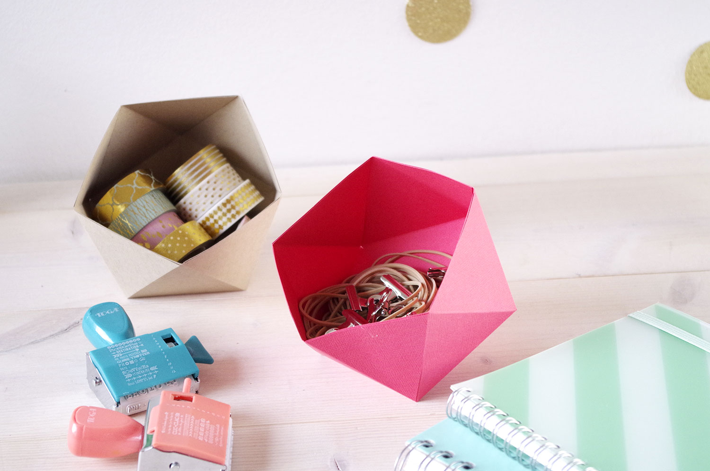 {DIY} Des vide-poches en pliage origami