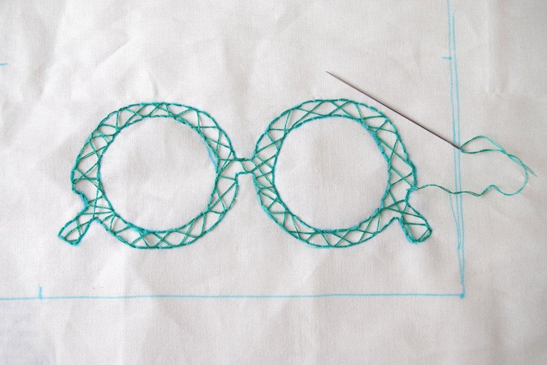 {DIY} Mon étui à lunette brodé (5)