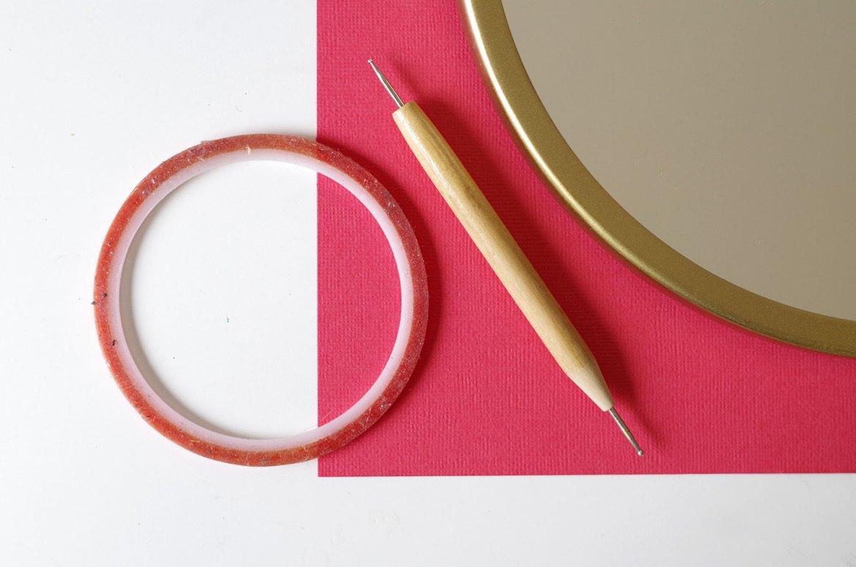 DIY Un cadre En origami pour mon miroir pour un look géométrique (2)