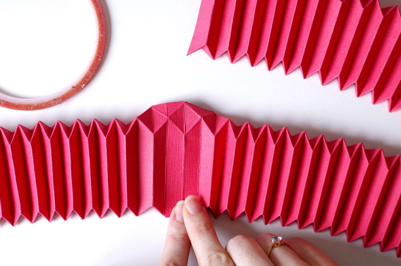 DIY Un cadre En origami pour mon miroir pour un look géométrique (8)