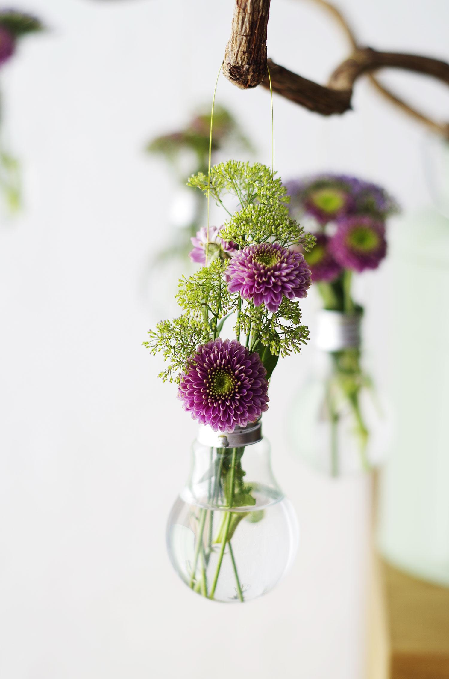 Créer des vases à partir d'ampoules usagées