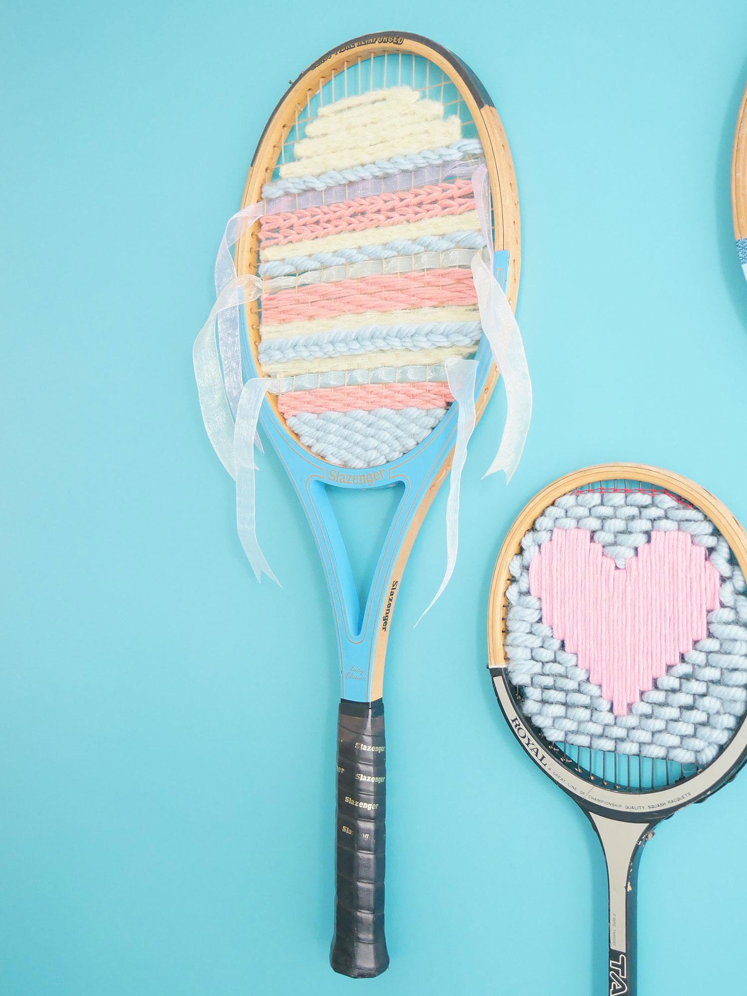 DIY | Tissage dans les cordes d'une raquette vintage