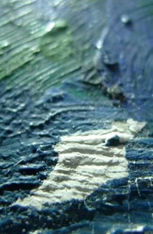 restaureren en conserveren - lacunes gaten vullen- voor restauratie - schilderij restauratie atelier iddi den haag zuid holland