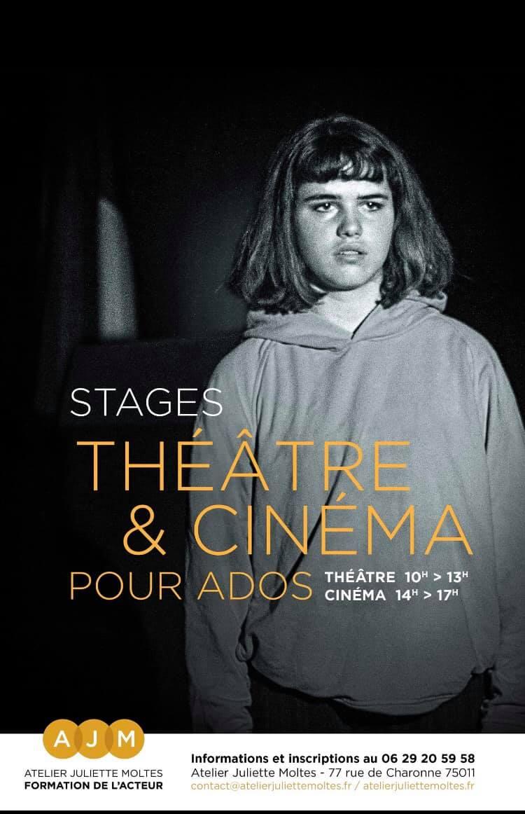 stage théâtre et cinéma pour ados - atelier juliette moltes
