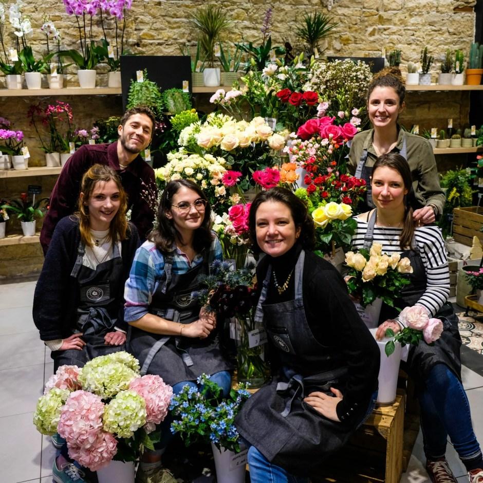 équipe boutique Atelier Lavarenne fleuriste Lyon