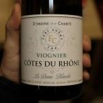 """Etiquette recto bouteille de Côte du Rhône blanc """"Les Dames Blanches"""""""