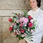 bouquet fleurs roses la vie en rose Atelier Lavaerenne Fleuriste Lyon