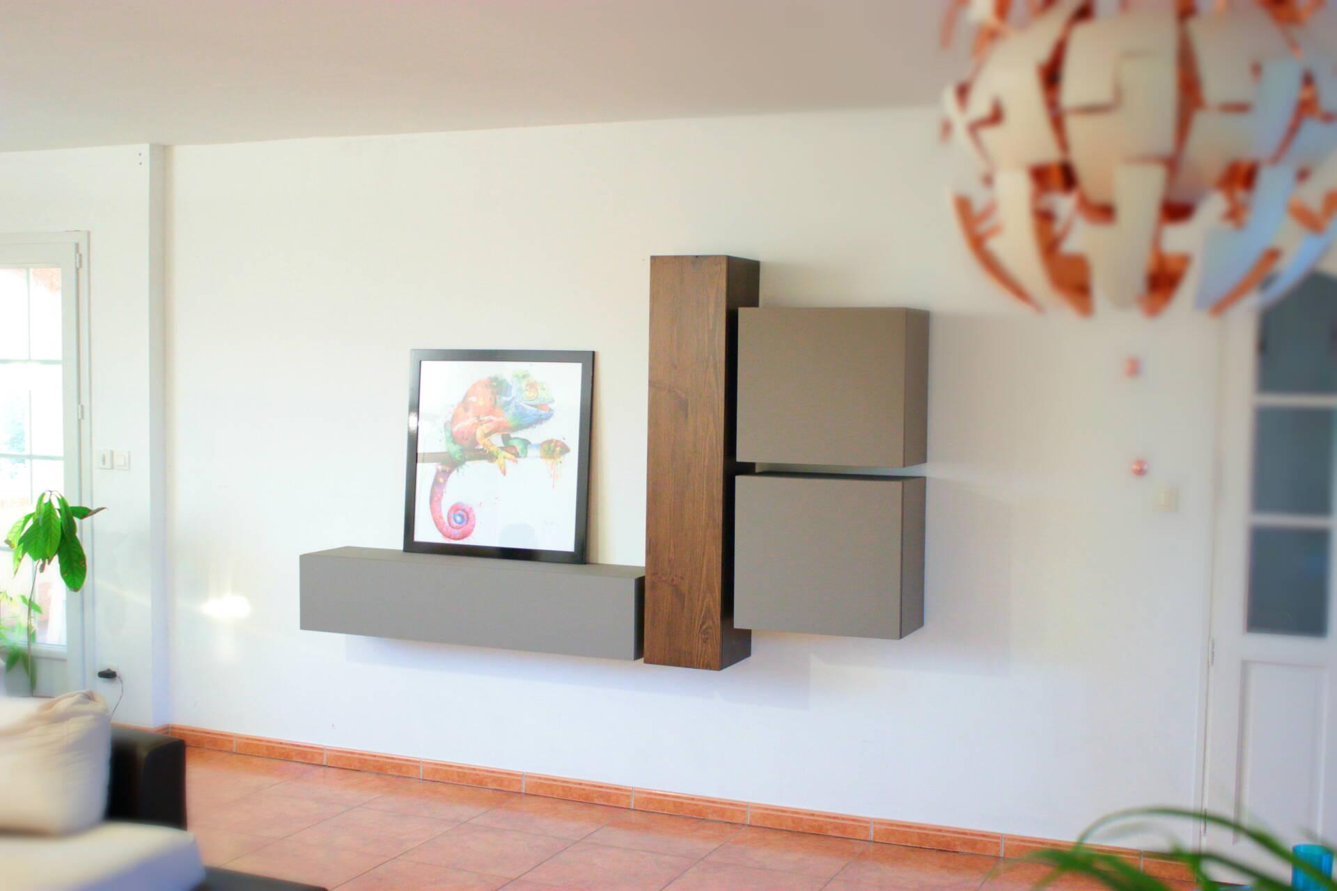 meubles suspendus de salon cuisine et