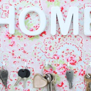 Porte-clés HOME flower