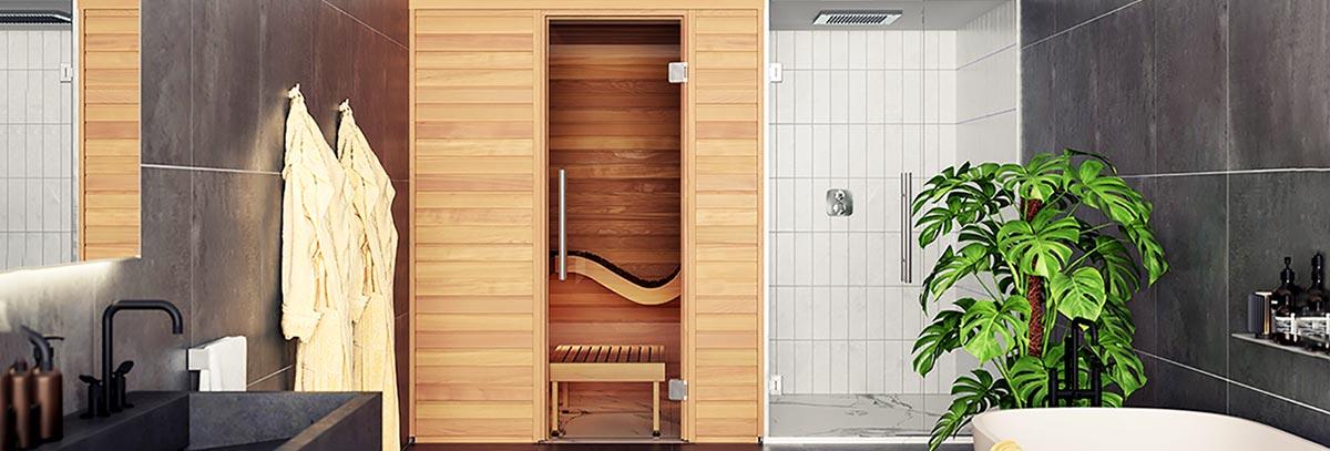 sauna interieur traditionnel bois pas cher