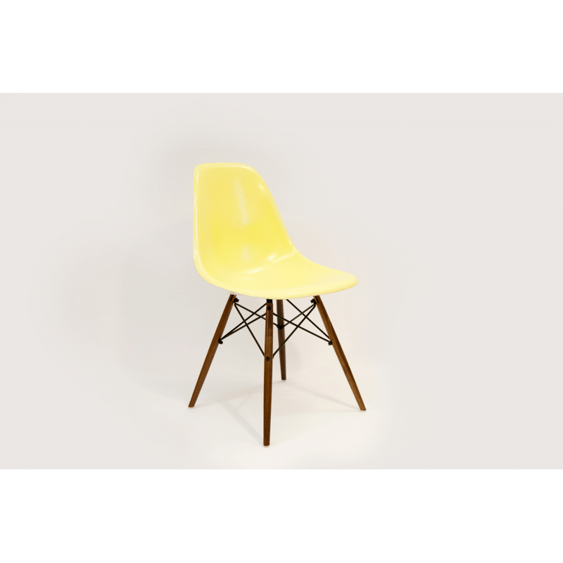 chaise eames dsw herman miller jaune citron