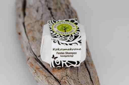 Festes Shampoo Kokosmakrone von Sauberkunst Seifenmanufaktur
