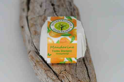 Festes Shampoo Mandarine von Sauberkunst Seifenmanufaktur